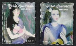 5111-5112  France 2016 MarieLaurencin- Oblitérés - Gebraucht