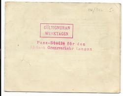 33-LANGON-Laisser-Passer Pour Franchir La Ligne De Démarcation...1941/1942 - Documenti Storici