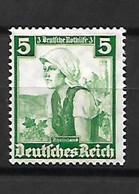 1265 -III REICH-1935 Costumes Régionaux YT 549 Neuf * - Ungebraucht
