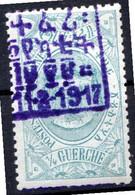 ETHIOPIE- (Poste Intérieure) - 1917 - N° 100 - 1/4 G. Vert-bleu - (Couronnement De L'impératrice Zeoditou) - Etiopia