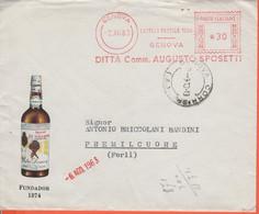 ITALIA - ITALY - ITALIE - 1963 - 30 EMA,Red Cancel - Augusto Sposetti - Fundador 1874 - Busta + Lettera Commerciale - Vi - Machine Stamps (ATM)