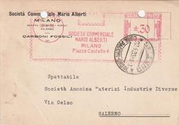 A25. Milano. 1935.  Affrancatura Meccanica Rossa SOCIETA' COMMERCIALE MARIO ALBERTI .30 - Machine Stamps (ATM)