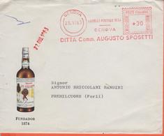 ITALIA - ITALY - ITALIE - 1963 - 30 EMA,Red Cancel - Augusto Sposetti - Fundador 1874 - Busta + Lettera Commerciale + Ri - Machine Stamps (ATM)