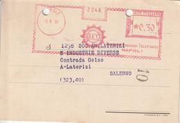 A25. Napoli. 1935.  Affrancatura Meccanica Rossa S.E.T. SOCIETA' ESERCIZI TELEFONICI 0.30 - Machine Stamps (ATM)