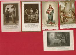 5 Images De Faire Part De Communion Solennelle(1912 / 1914) - Communion