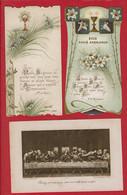 3 Images De Faire Part De 1ere Communion (de 1906 à 1913) - Communion