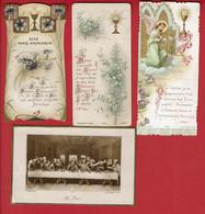 4 Images De Faire Part De 1ere Communion (de 1901 à 1916) - Communion