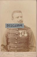 OFFICIER DE MARINE-Médailles Commandeur,Ordre National De La Légion D'Honneur Protectorat Français.Photo E.PIROU 1880/90 - Guerra, Militari