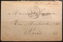 Garde Mobile- Guerre De 1870 - Lettre En Franchise De St Denis Sur Seine à Destination De Paris - TB - 1849-1876: Klassieke Periode