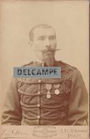 MILITAIRE De La 12e -Portant 2 Décorations- Médaille Militaire,de Campagne...Protectorat Français .Photo E.PIROU 1880/90 - Guerra, Militari