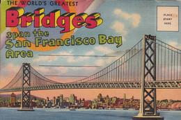 BRIDGES Span The San Francisco Bay Area ( Dépliant 16 Vues En Accordéon - San Francisco