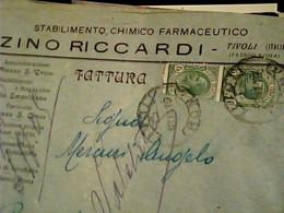 Busta  5CT LEONI LEGGG SPOST.  Ditta CHIMICA FARMACEUTICO CHIMICO  ZINO RICCARDI TIVOLI VB1919   HT1425 - Tivoli