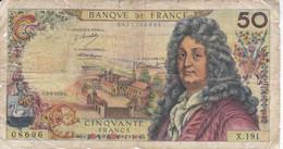 BILLETE DE FRANCIA DE 50 FRANCS DEL 2-3-1972  (BANKNOTE) - 50 F 1962-1976 ''Racine''