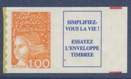 N° 16a Marianne De Luquet Auto Adhesif Faciale 1,00 F + Vignette - Adhesive Stamps