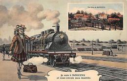 France Je Suis A Morcenx Et Vous Envoie Des Amities Un Coin De Morcen Locomotive - Other