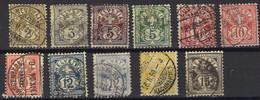 SVIZZERA 1882 - Lotto Di Francobolli Usati (18) - Non Classificati