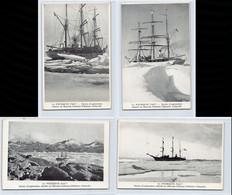 Antarctique - Expédition Polaire Charcot - Le Pourquoi Pas? - Série De 4 Cartes Postales - Ed. Du Museum D'Histoire Nat - TAAF : French Southern And Antarctic Lands