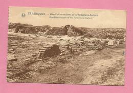 C.P. Zeebrugge =  Oorlog  1914-1918 :  Dépôt  De Munitions  De La SCHULIZEN-BATTERIE - Brugge