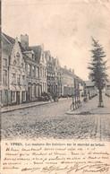 Ypres - Les Maisons Des Bateliers Sur Le Marché Au Bétail 1903 - Ieper