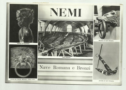 NEMI - NAVE ROMANA E BRONZI  VIAGGIATA  FG - Other