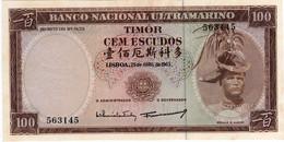 TIMOR 100 ESCUDOS - RÉGULO D. ALEIXO - 25/04/1963 - NOVA NÃO CIRCULADA  - CRISP UNCIRCULATED - Timor