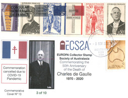 (Y 9) Australia - Général De Gaulle 50th Anniversary Of Death (events Cancelled Due To COVID-19) - Ziekte