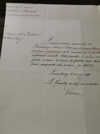 Lettre Signé Par Le Géomètre En Chef Du Cadastre 1896 Sur La Commune De Dudelange - Vari
