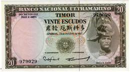 TIMOR 20 ESCUDOS - RÉGULO D. ALEIXO - 24/10/1967 - NOVA NÃO CIRCULADA  - CRISP UNCIRCULATED - Timor