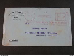 """4847 ITALIA Regno EMA-1948- Storia Postale """"Mario Alberti"""" Ordinaria (descrizione) - Machine Stamps (ATM)"""