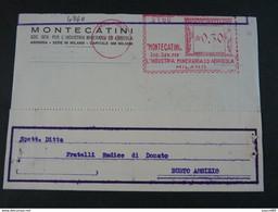 """4840 ITALIA Regno EMA-1936- Storia Postale """"Montecatini"""" Ordinaria (descrizione) - Machine Stamps (ATM)"""