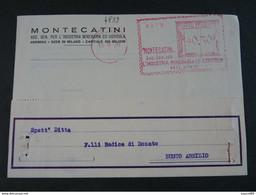 """4839 ITALIA Regno EMA-1936- Storia Postale """"Montecatini"""" Ordinaria (descrizione) - Machine Stamps (ATM)"""