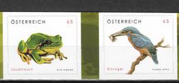 Austria 2008 MiNr. 2716 - 2717  Österreich  Fauna Birds Frogs  2V  MNH** 4,00 € - 2001-10 Unused Stamps