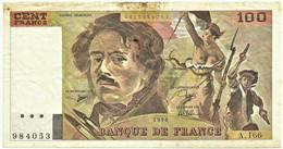 FRANCE - 100 Francs - 1990 - P 154.e - Serie A.166 - EUGÈNE DELACROIX - 100 F 1978-1995 ''Delacroix''