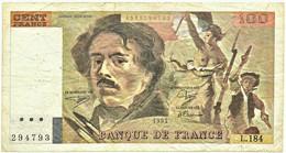FRANCE - 100 Francs - 1991 - P 154.e - Serie L.184 - EUGÈNE DELACROIX - 100 F 1978-1995 ''Delacroix''