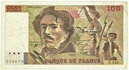 FRANCE - 100 Francs - 1993 - P 154.g - Serie E.248 - EUGÈNE DELACROIX - 100 F 1978-1995 ''Delacroix''