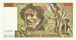 FRANCE - 100 Francs - 1993 - P 154.g - Serie K.207 - EUGÈNE DELACROIX - 100 F 1978-1995 ''Delacroix''