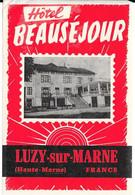 Hôtel Beauséjour - LUZY-sur-MARNE (Haute-Marne) - Etiquettes D'hotels