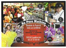 LANDRECIES NORD - AU PERE MATHIEU - FETE DE LA BIERE, DANSES, REVUE PARISIENNE, GUINGETTE, ACCORDEON, VOIR LES SCANNERS - Inns