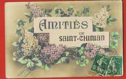 Amitiés De SAINT-CHINIAN- Hérault-  Cpa Circulée 1912 Vers PUISSALICON Hérault -  Scans Recto Verso - Sonstige Gemeinden