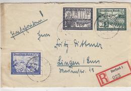 R-Brief Aus HERFORD 4.7.41 Nach Lingen - Briefe U. Dokumente