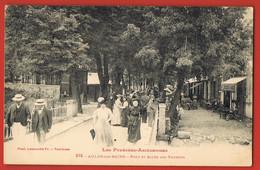 AULUS-les-BAINS- Les Pyrénées Ariègeoises- Pont Et Allée Des Thermes- CPA écrite Au Verso Scanné - Sonstige Gemeinden