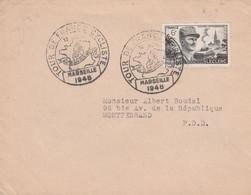 TOUR DE FRANCE CYCLISTE 1948 ETAPE DE MARSEILLE - Bolli Commemorativi