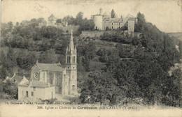 Eglise Et Chateau De Cornusson Près CAYLUS  (T Et G) Recto Verso - Andere Gemeenten
