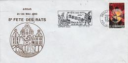 1 ER JOUR FLAMME 5 EME FETE DES RATS à ARRAS 1983 - Annullamenti Meccanici (pubblicitari)