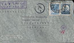 ! 1941 Brasilien, Brazil, Luftpostbrief N. Kärnten, Österreich, Via L.A.T.I. Lati, Via Aerea, Airmail, Zensur, Censure - Airmail