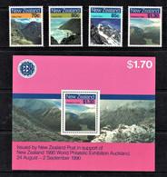 New Zealand 1988 Walking Tracks Set Of 4 + Minisheet MNH - Ongebruikt