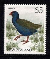New Zealand 1988 Takahe Bird $5 MNH - Ongebruikt