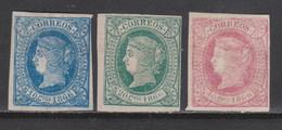 1866 ISABEL II CUBA. 3 PIEZAS NUEVAS. +27 €. VER - Cuba (1874-1898)