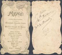Belgique - Menu : Diner Offert à L'occasion D'un Mariage Uni à Bruxelles 3 Juillet 1901 - Menus