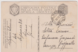 Italy 1936-12-28  Cartolina Postale Per Le Forze Armate Africa Orientale  ,Om Hagen Eritrea ,see Scan For Conditions - Posta Militare (PM)